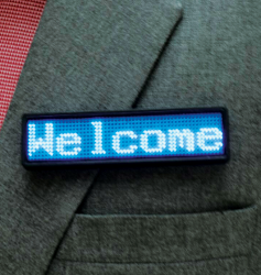LED badges og skilte