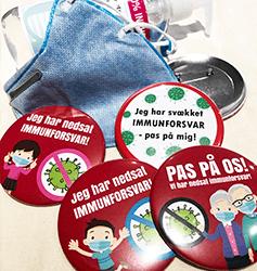 Corona virus badges