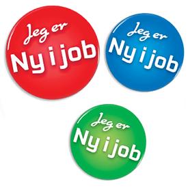 Ny i job badges, og andre lagervarer