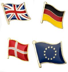 Flag emaljepins