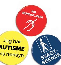 Hjælpemiddel badges